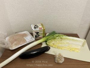 ヘルシー麻婆豆腐の材料
