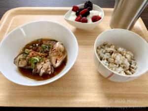 サバ缶の蒲焼風定食