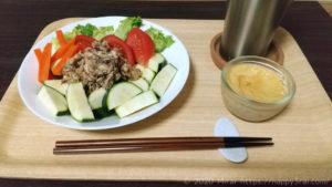 ズッキーニとサバ缶のカレー味冷サラダ完成2