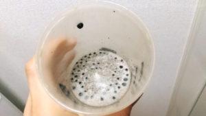 アルプロンALPRONやさしいミルク+チョコチップにインスタントコーヒー入り