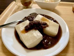朝筋トレ前におすすめの切り餅とラカント小豆