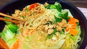 こんにゃく麺の温かい担々麺2