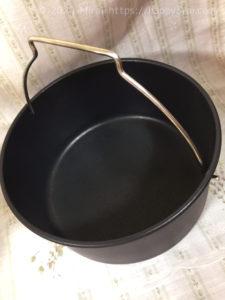 ショップジャパンのカラーラの付属品丸底鍋