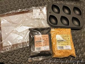 cottaで買ったアルプロン風の食べるプロテインを作るキャラメルチップとチョコチップ