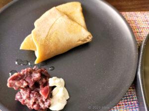 低カロリー高タンパク質ダイエット向きガレット小豆チーズアレンジ