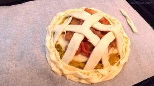 ダイエット向き低カロリーアップルパイ焼く前